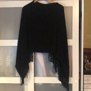 Jackets & Blazers - Fringe poncho